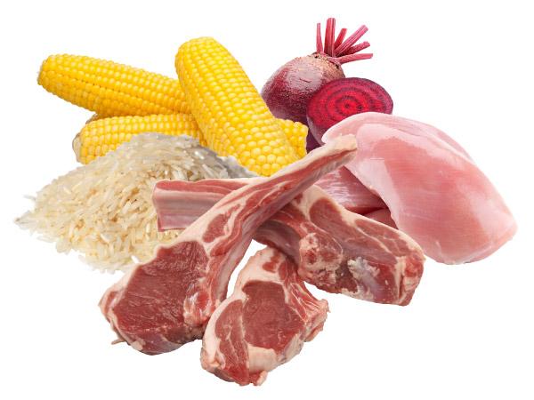 Kvalitní složení krmiva