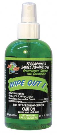 Čištění a dezinfekce terária