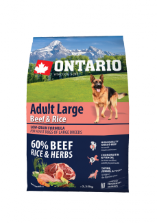 Ontario Adult Large Beef  Rice 2,25 kg
