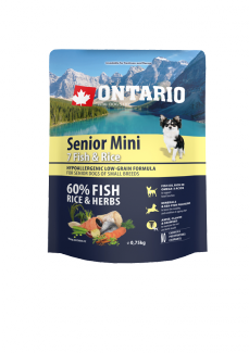 Ontario senior mini fish  rice 0,75 kg