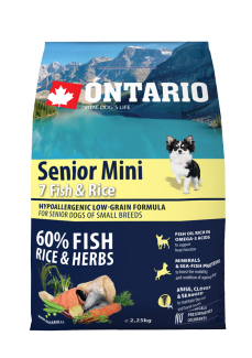Ontario senior mini fish  rice 2,25 kg