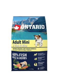 Ontario Adult Mini Fish  Rice 2,25 kg