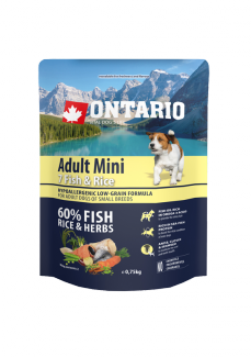 Ontario Adult Mini Fish  Rice 0,75kg