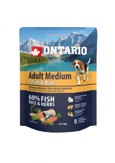 Ontario Adult Medium Fish  Rice 0,75 kg