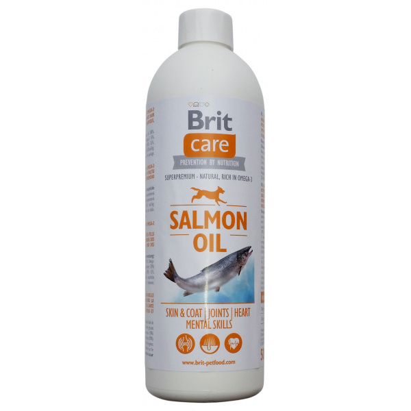 Lososový olej brit care salmon oil 500ml