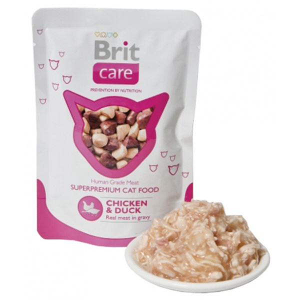 Kapsička brit care cat pouches chicken  duck 80g