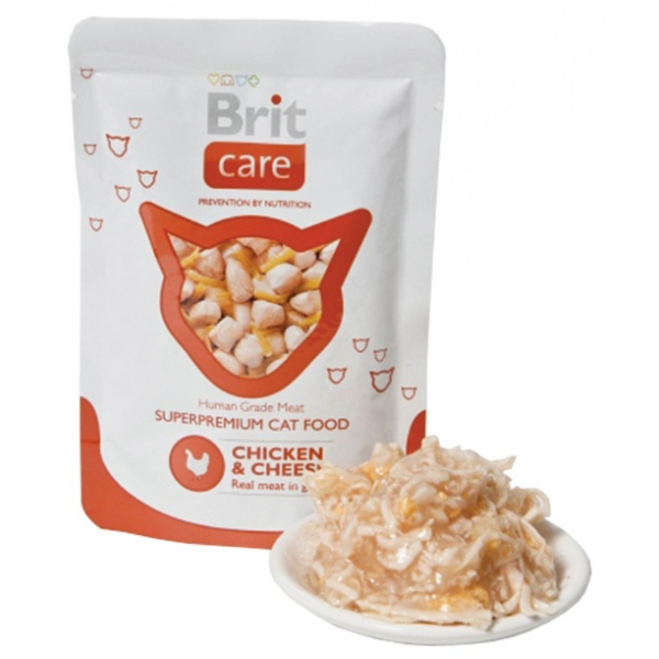 Kapsička brit care cat pouches chicken  cheese 80g