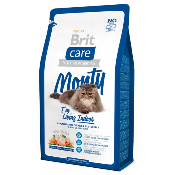 Brit care cat monty im living indoor 2kg