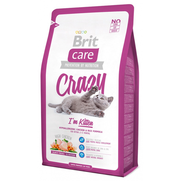 Brit care cat crazy im kitten 2kg