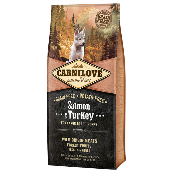 Carnilove Salmon  Turkey for Large Breed Puppy 12kg