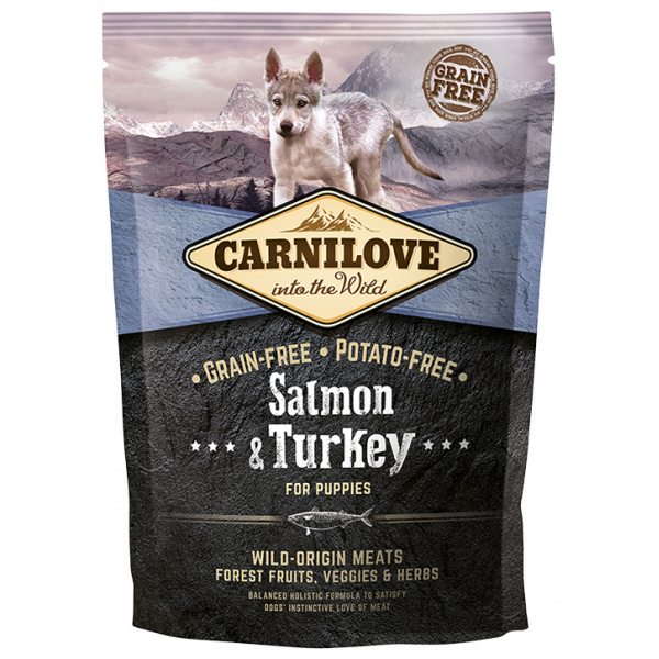 Carnilove Salmon  Turkey for puppies 1,5kg