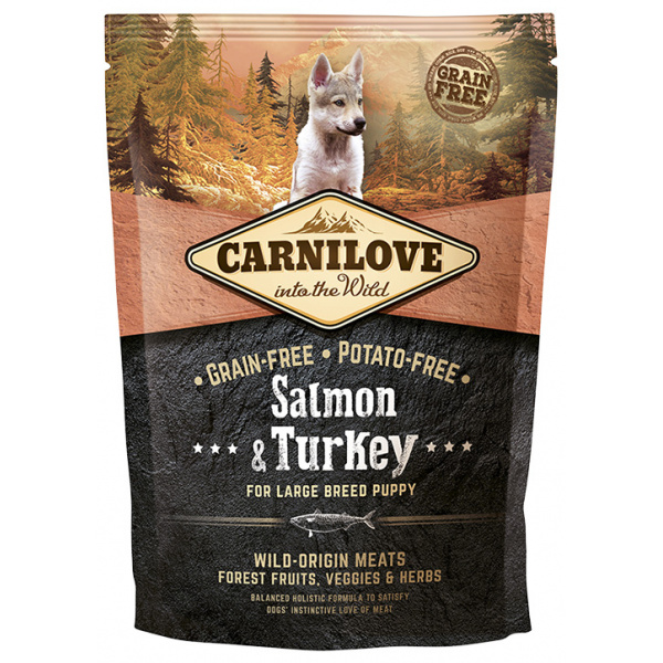 Carnilove Salmon  Turkey for Large Breed Puppy 1,5kg