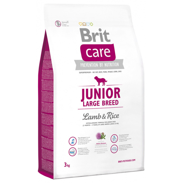 Brit care junior large breed lamb  rice 3kg