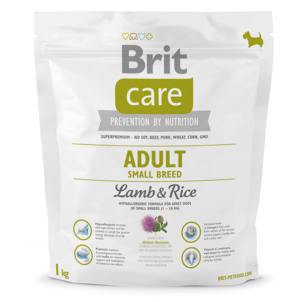 Brit care adult small breed lamb  rice 1kg