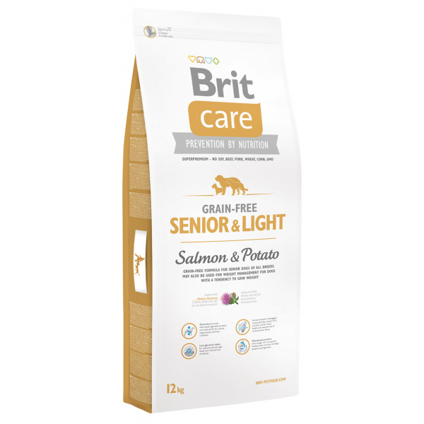 Brit Care Grain-free Senior  Light Salmon  Potato 12kg