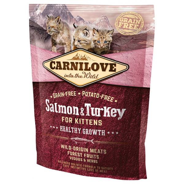 Carnilove salmon and turkey kittens – healthy growth 400g