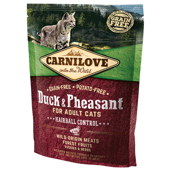 Carnilove Duck and Pheasant Adult Cats–Hairball Control 400g