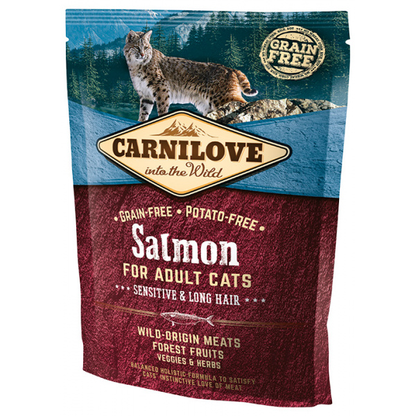 Carnilove Salmon Adult Cats – Sensitive and Long Hair 400g