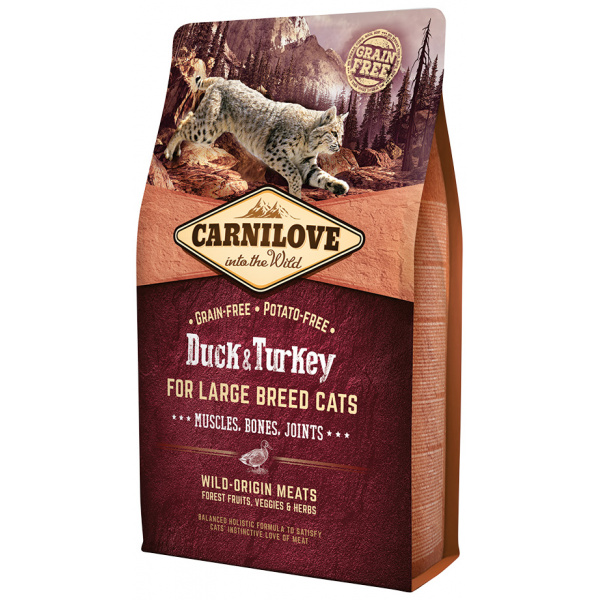 Carnilove Duck and Turkey Large Breed Cats – Muscles, Bones, Joints 2kg