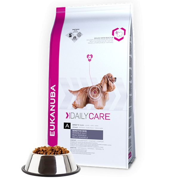 Eukanuba daily care sensitive skin 2x12kg