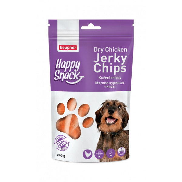 Pochoutka beaphar happy snack dog kuřecí chipsy 60 g
