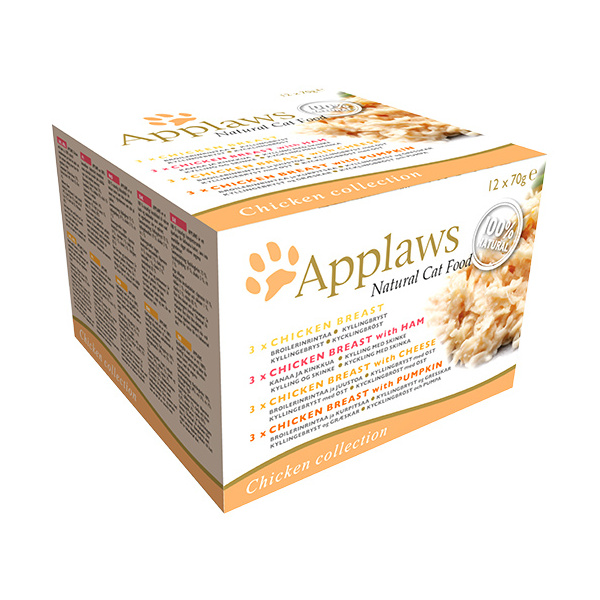 Konzervy applaws cat chicken selection multipack 12 x 70g