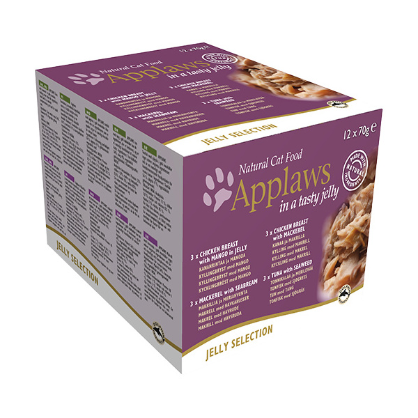 Konzervy applaws cat jelly selection multipack 12 x 70g
