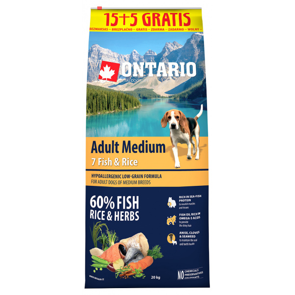 Ontario adult medium fish  rice 155 kg