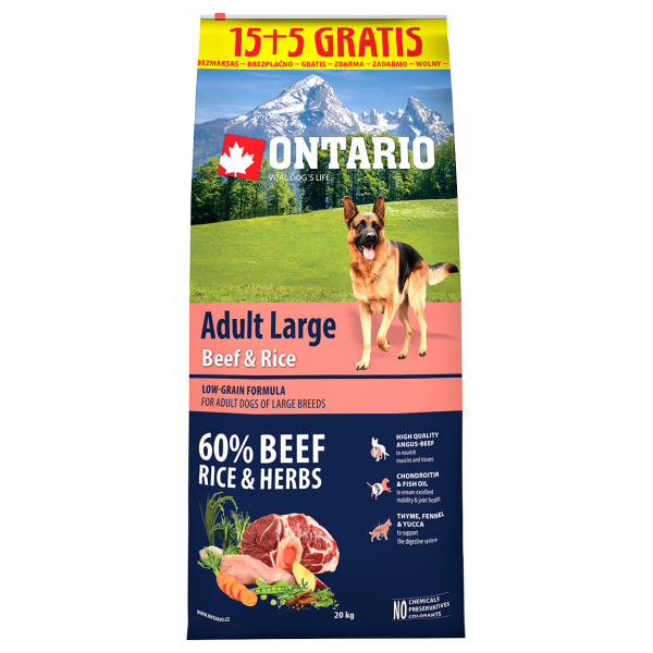 Ontario adult large beef  rice 155kg