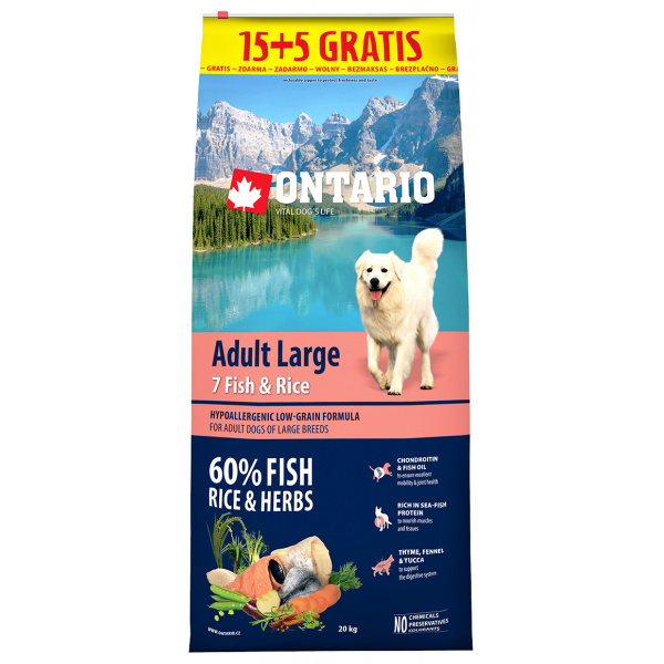 Ontario Adult Large Fish  Rice 155kg zdarma