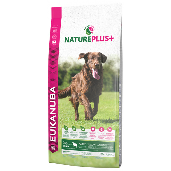 Eukanuba nature plus adult large breed rich in freshly frozen lamb 10kg