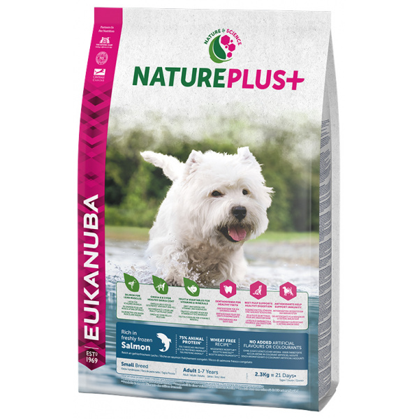 Eukanuba nature plus adult small breed rich in freshly frozen salmon 2,3kg