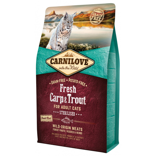 Carnilove Fresh Carp  Trout Sterilised for Adult cats 2kg