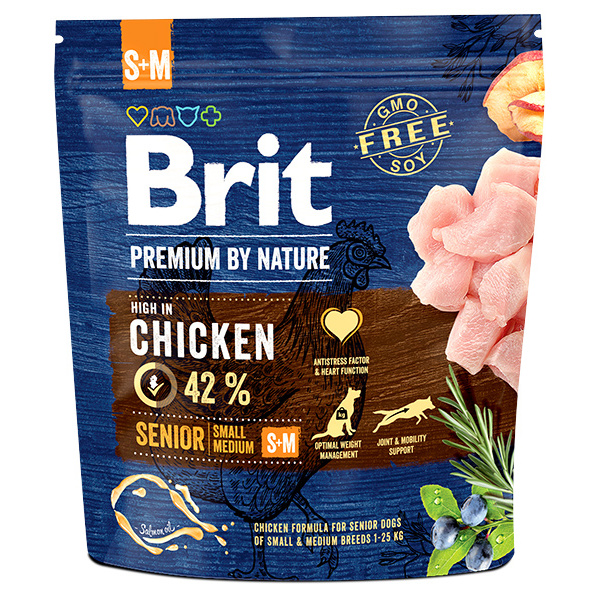 Brit premium by nature senior sm 1kg
