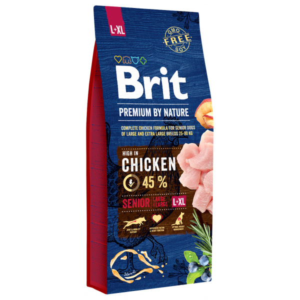 Brit premium by nature senior lxl 15kg