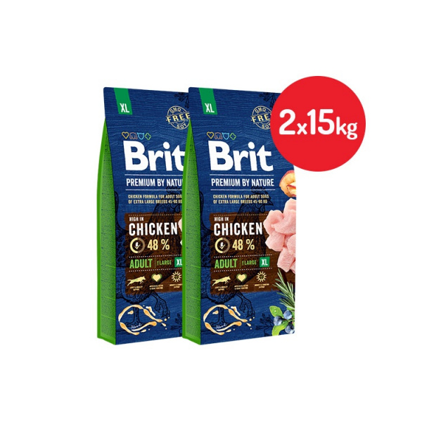 Brit premium by nature adult xl 2x15kg