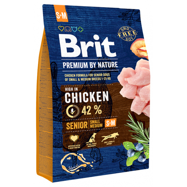 Brit premium by nature senior sm 3 kg