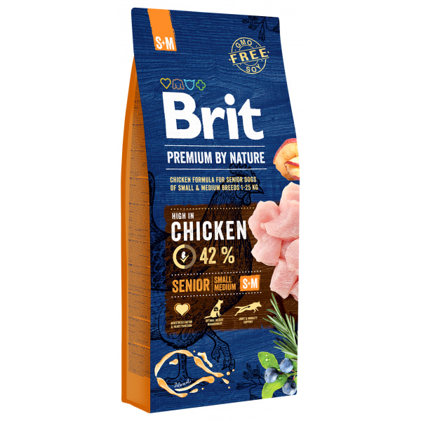 Brit premium by nature senior sm 15kg