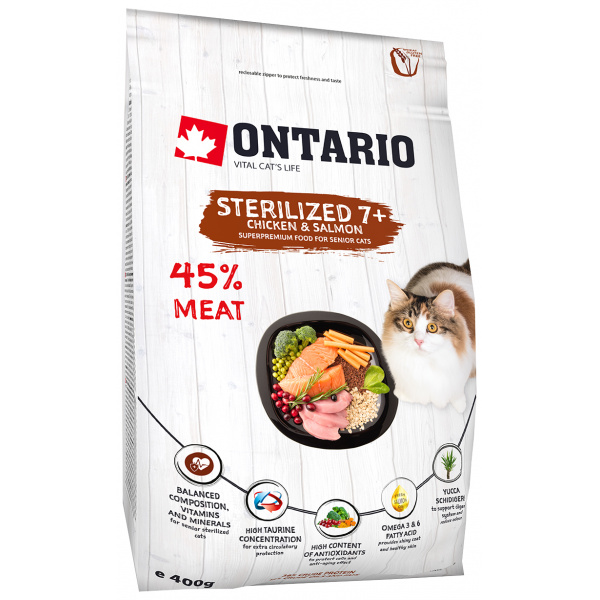 Ontario Cat Sterilised 7 0,4 kg