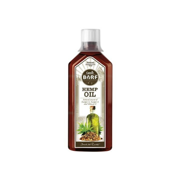 Olej canvit barf hemp oil 0,5l