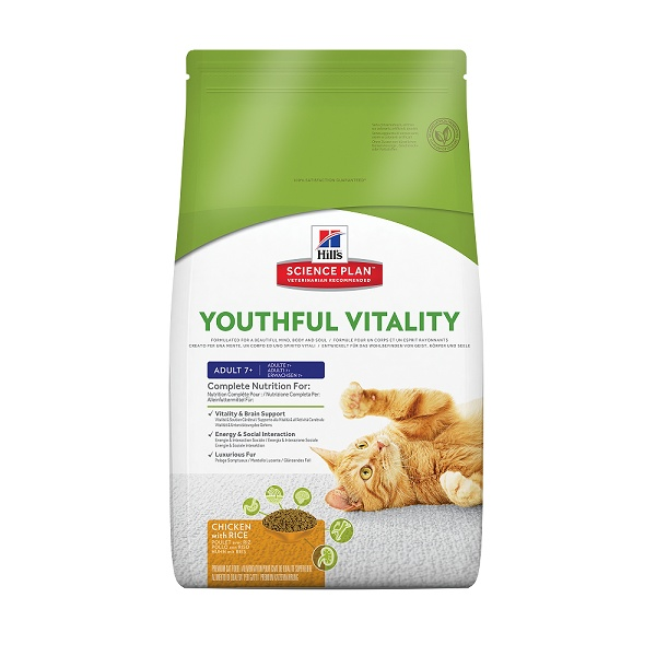 Hill's science plan feline 7 youthful vitality 6kg