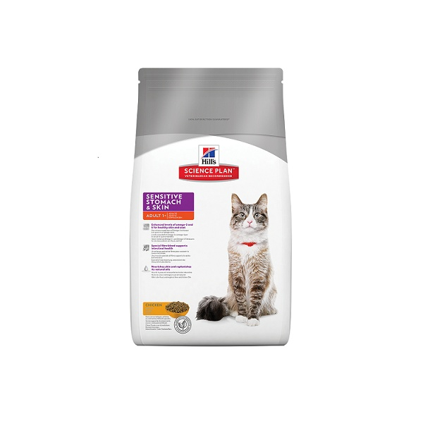 Hill's science plan feline adult sensitive stomach & skin 5kg