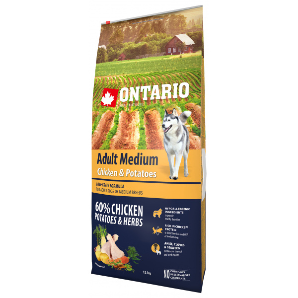 Ontario Adult Medium Chicken  Potatoes 12 kg