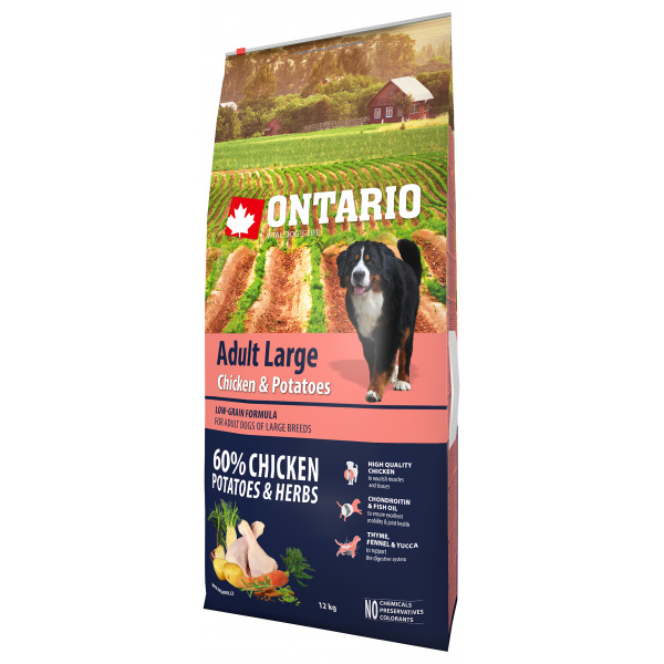Ontario adult large chicken  potatoes 12kg