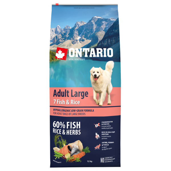 Ontario Adult Large Fish  Rice 12kg