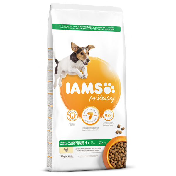 IAMS Dog Adult Small  Medium Chicken 12kg