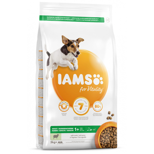 Iams dog adult small & medium lamb 3kg