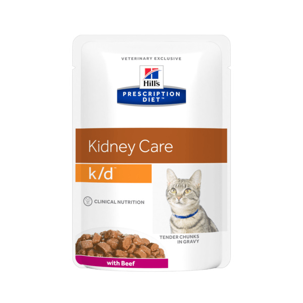 Hill's prescription diet feline kd beef kapsička 85g