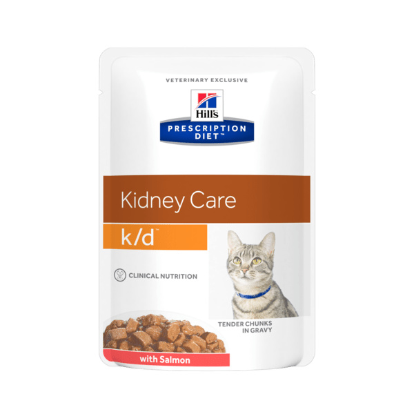 Hill´s precription diet feline kd salmon kapsička 12x85g
