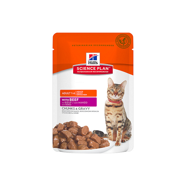 Hill's science plan feline adult optimal care beef - kapsička 85g
